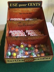 Rare Antique Curtiss Penny Candy And Gum Metal Display