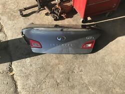 Infiniti G37X  trunk lid with back up camera and tail lights. Fits 2009-2013