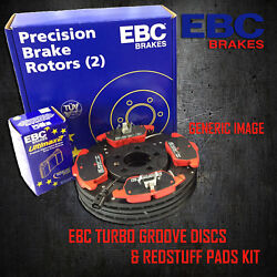 New Ebc 288mm Front Turbo Groove Gd Discs And Redstuff Pads Kit Kit7843