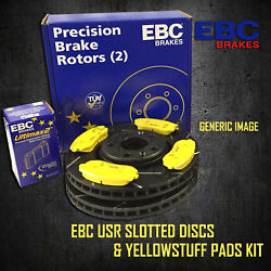 New Ebc 300mm Front Usr Slotted Brake Discs And Yellowstuff Pads Kit Pd08kf099