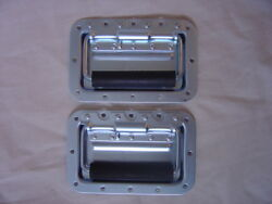 Case hardware new Recessed spring loaded handles pair