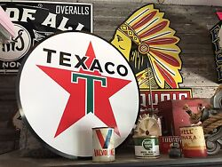 Antique Vintage Old Style Texaco Sign 23