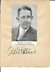 1930and039s Autograph Book Eddie Collins Herb Pennock + 7 Others Rare Jsa Loa