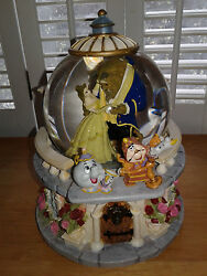Disney Store Beauty And The Beast Musical Princess Snowglobe Belle Beast Lumiere