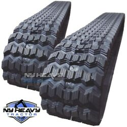 New Zig Zag Rubber Tracks Set Of Two For Bobcat T250 450x86x55 17.7