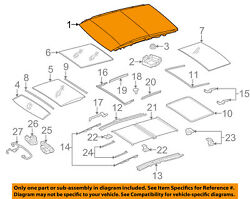 MERCEDES OEM 13-14 GL350 SUNROOF-Panoramic Assembly 1667800829