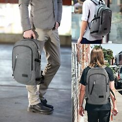 Laptop Backpacks Women Business Bags Water Resistant 17-Inch Notebook Grey