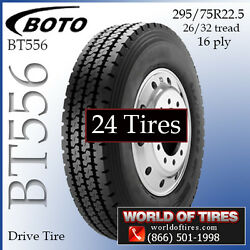 16ply Semi Tires Boto BT556 295/75R22.5 Set of 24 - $283 Each FREE SHIPPING
