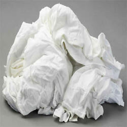White Knit T-shirt Wiping Rags Cleaning Cloth 50 Lb Box - Best Quality And Price