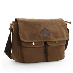 Men's Canvas Cross Body Bag Messenger Shoulder Book Bags School Satchel Vintage