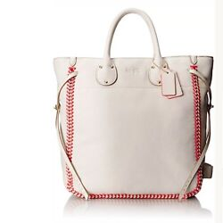 NWT Coach Tatum Large Tote in Whiplash Leather #35156 ChalkNeon Pink