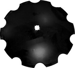 Amx57115 Double-bevel Disc Blade Notched Edge For Universal Tillage