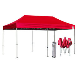 Red 10X20 Ez Pop Up Canopy Commercial Outdoor Party Beach Tent wWheeled Bag