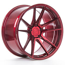 """20"""" Rohana Rf2 Gloss Red Concave Wheels For Mercedes Cls400 Cls550 Cls63 Cls55"""