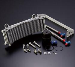 Active Earls Silver Oversize Curved Oil Cooler Kit Yamaha Vmax V Max 1200 2001