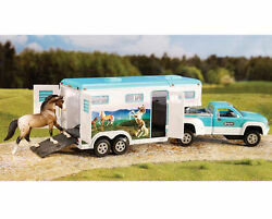 Breyer Horses Stablemates Size Pickup Truck and Gooseneck Trailer #5356