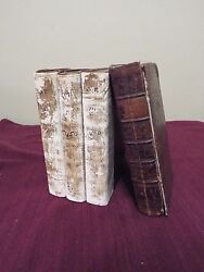 1750 First Edition Of The Old Testament Latin Vulgate Bible- 4 Volumes