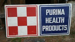 1950 Vintage Purina Health Products Sign
