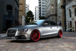 20andrdquo Rohana Rf1 Gloss Red Concave Wheels For Audi C7 A6 S6 2011 - Present 20x9