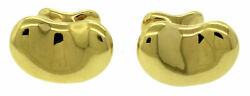 4200 Men's And Co. Peretti 18k 750 Yellow Gold Bean Cuff Links 18mm