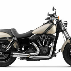 Two Brothers Stainless W/ Carbon 2-into-1 Comp-s Exhaust 2006-2017 Harley Dyna