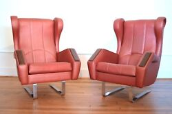 Awesome Rare Pair Of Italian Space Age Mid Century Modern Possibly Arthur Elrod