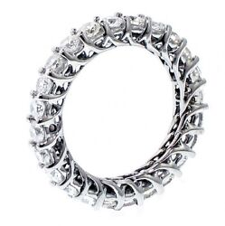 2.30 Ct Tw Round Diamond Lucida Prong Eternity Band In 18k White Gold