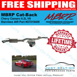 Mbrp Cat-back 2010-2015 Camaro Ss 6.2l 6-speed Manual T409 Stainless S7018409