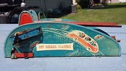 Vintage 1940s Wolverine Jet Roller Coaster Lithograph Tin Windup Toy