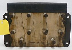 1915-18 Model T Ford Coil Box With Lid And Key And 4 Ford Script Brass Top Coils