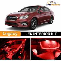 10x LED Ultra Red Light Interior Package Kit For 2010 - 2017 Subaru Legacy Tool