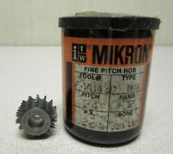 Itw Mikron Fine Pitch Gear Hob F1414ncd Pitch 24 P.a. 20 Degree Bore .3149