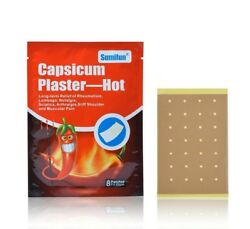 Capsicum Plaster Hot Pain Relieving Patch Muscle Back Joint Ache Relief 24Pc
