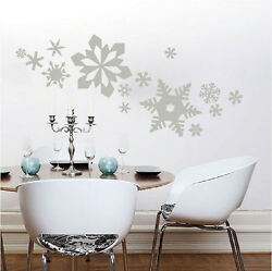 Snowflakes Wall Decals Christmas Window Stickers Christmas Decorations, H37