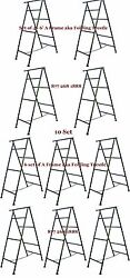 10 Set Of 6and039 A Frame Folding Trestle For Masonry Contractor Work Cbm Scaffold