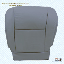 Driver Seat Bottom Replacement Cover Gray Leather For 2006 Toyota Sequoia