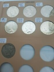 Seven Peace Silver Dollar Lot. 2 1922 P,1923, 3 1934 D And 1935s.