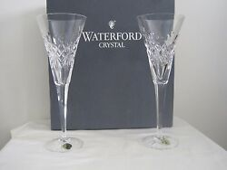Disney Waterford Flutes With Mickey Mouse Heads 1898.91 Retired
