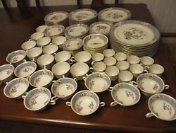 Lenox China Dinnerware Ming-birds 108 Pieces Black Stamped 12 Person