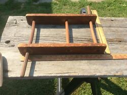 Antique Yarn Spinner , Wood , Two Handles , Three Dividers