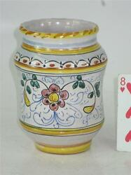 Barware Stir Sticks Holder Or Vase Majolica-style Made In Italy Hand Panted Made
