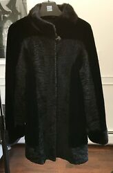 New Collection Lamb And Mink Fur Coat In Size M. Beautiful Designer's Model.