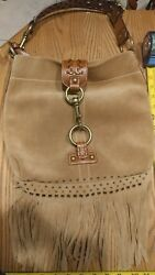 Coach tan suede bag with fringes and tassle $179.98