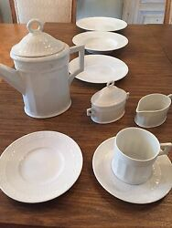 Royal Copenhagen White Fan China - Cup And Saucer Set Only