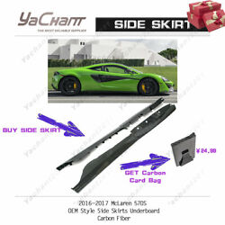 Carbon Fiber Extension Kit Fit For 16-17 Mclaren 570s Oe Side Skirt Underboard