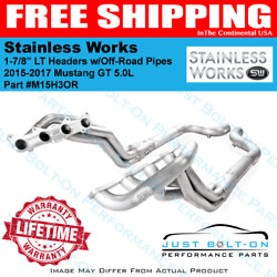 Stainless Works 2015-2019 Mustang GT 1 78 Long Tube Headers Off-Road 3