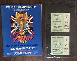 England World Cup 1966 Signed Programme And Tickets