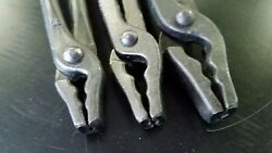 Blacksmith Set Of 3 Different Size Wolf Jaw Tongs Forge Tool Professional