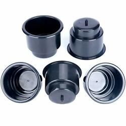 50pcs Boat Recessed Plastic Cup Drink Can Holder With Drain Black -us Free Ship