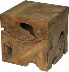 16 Set Of Two Side Table Night Stand Teak 6163
